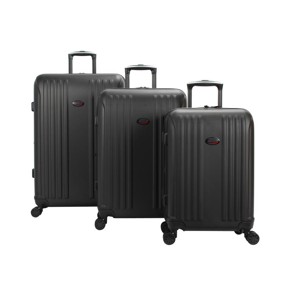 Moraga 3-Piece Black Hard Side Spinner Luggage Set