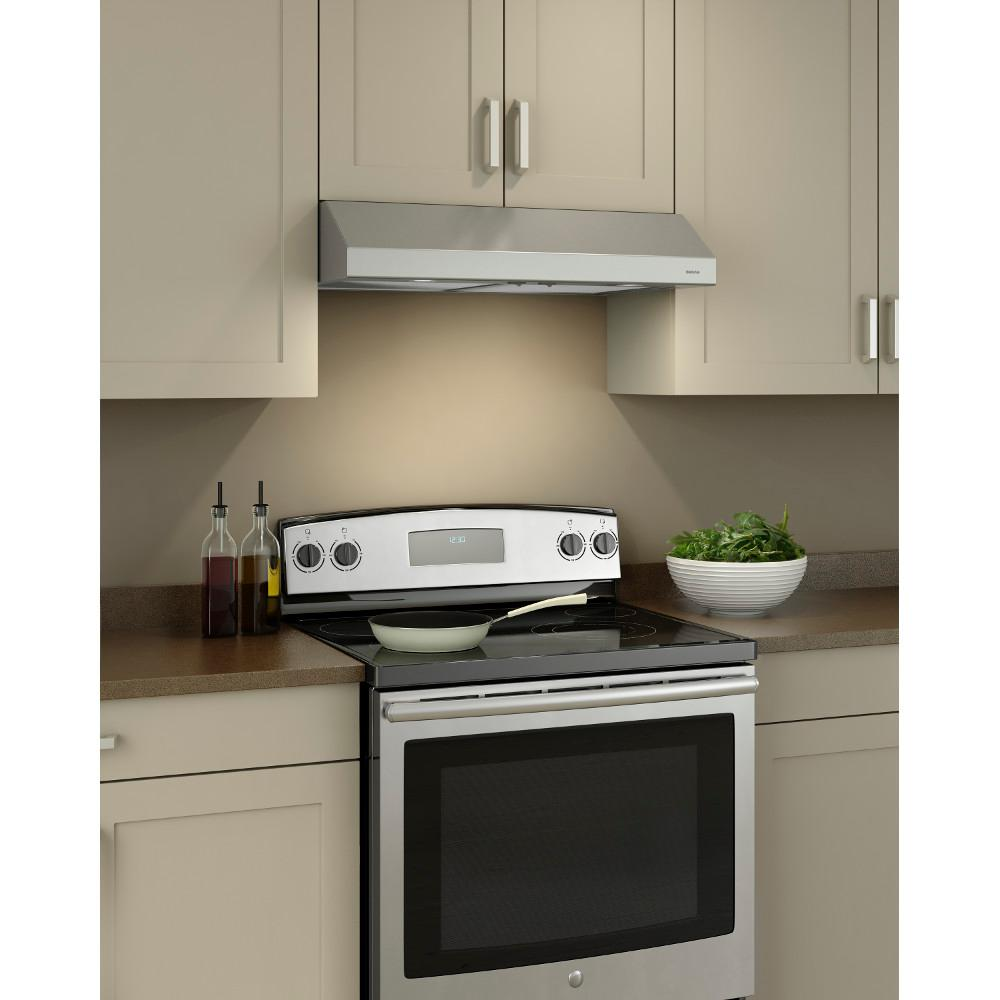 - Broan Glacier 30 In. Convertible Under Cabinet Range Hood With