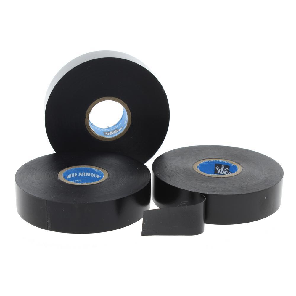 Wire Armour 3/4 in. x 66 ft. 88 Premium Vinyl Tape, Black (10-Pack)