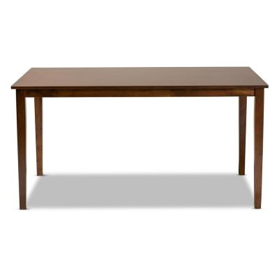 Eveline Walnut Brown Dining Table