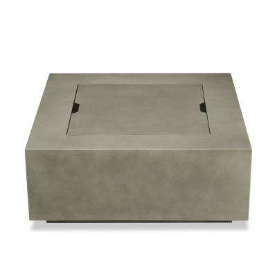 Aegean 36 in x 15 in. Square Steel Propane Fire Pit Table in Mist Gray with NG Conversion Kit