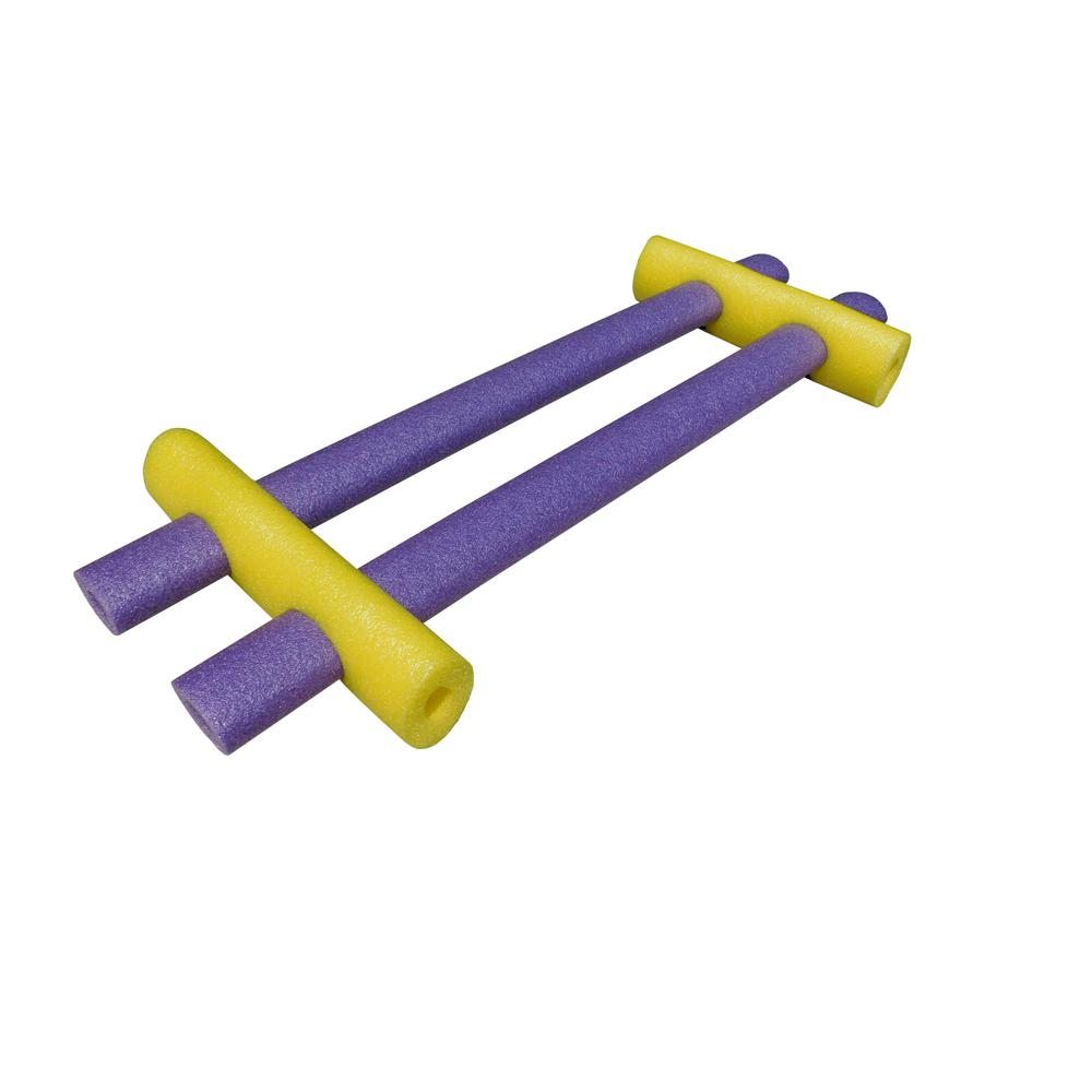 H2Ohs! Yellow and Purple Foam Custom Connecting Pool Float (4-Pack)
