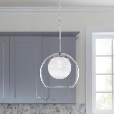 Melinda 40-Watt Equivalence Chrome Integrated LED Mini Pendant