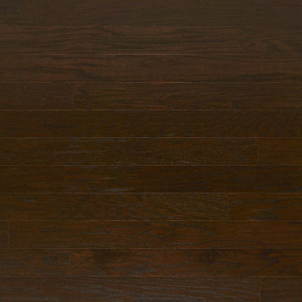 Heritage Mill Take Home Sample Scraped Oak Timber Engineered Click Hardwood Flooring 5 In. X 7 In.