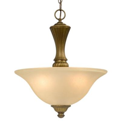 Negron 3-Light Parisian Antique Brass Incandescent Pendant