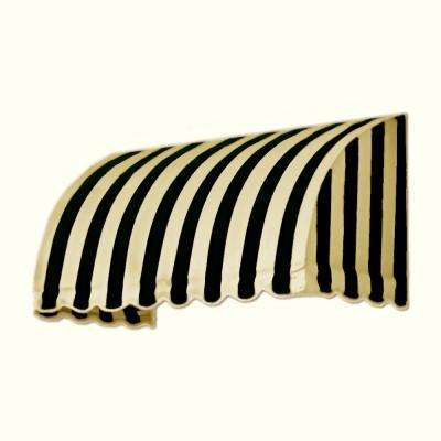 5 ft. Savannah Window/Entry Awning (44 in. H x 36 in. D) in Black/Tan Stripe