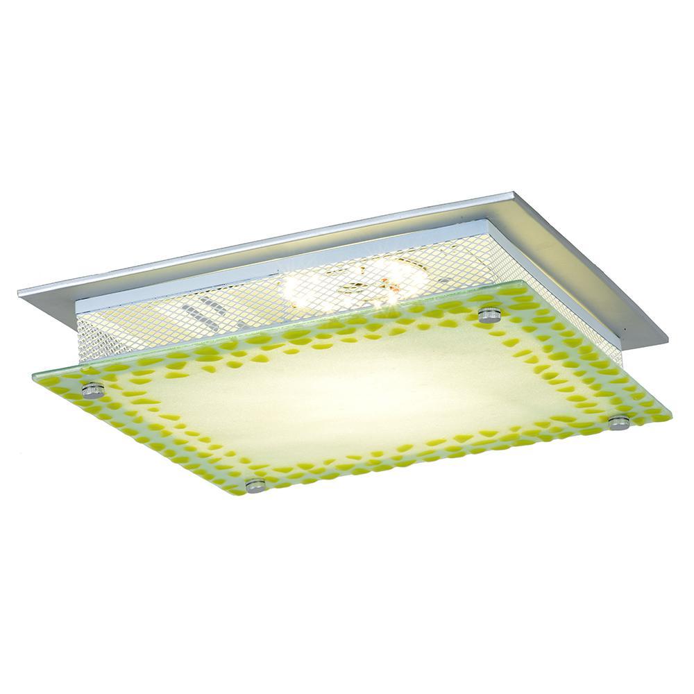 Lennon 18-Watt Silver Integrated LED Ceiling Flushmount