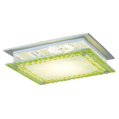 Lennon 18-Watt Silver Integrated LED Ceiling Flushmount