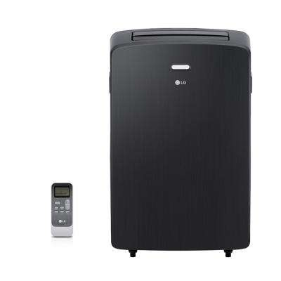12,000 BTU (7,000 BTU, DOE) Portable Air Conditioner, 115-Volt w/ Dehumidifier Function and LCD Remote in Graphite