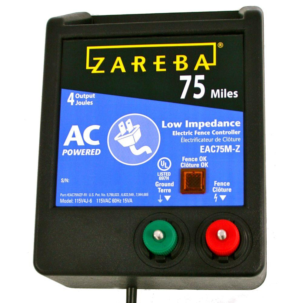 Zareba 75 Mile Ac Low Impedance Charger Eac75m Z The