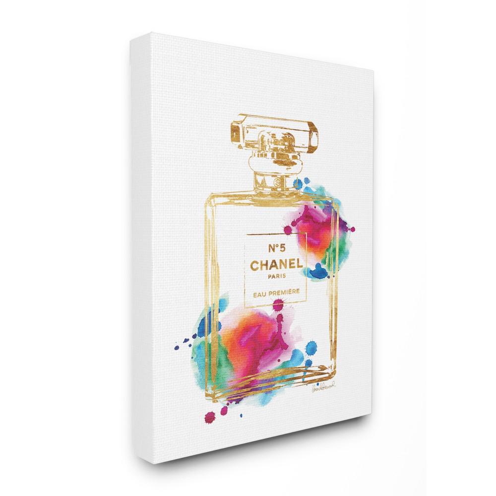 "24 in. x 30 in. ""Fashion Perfume Gold Rainbow"" by Amanda Greenwood Printed Canvas Wall Art"