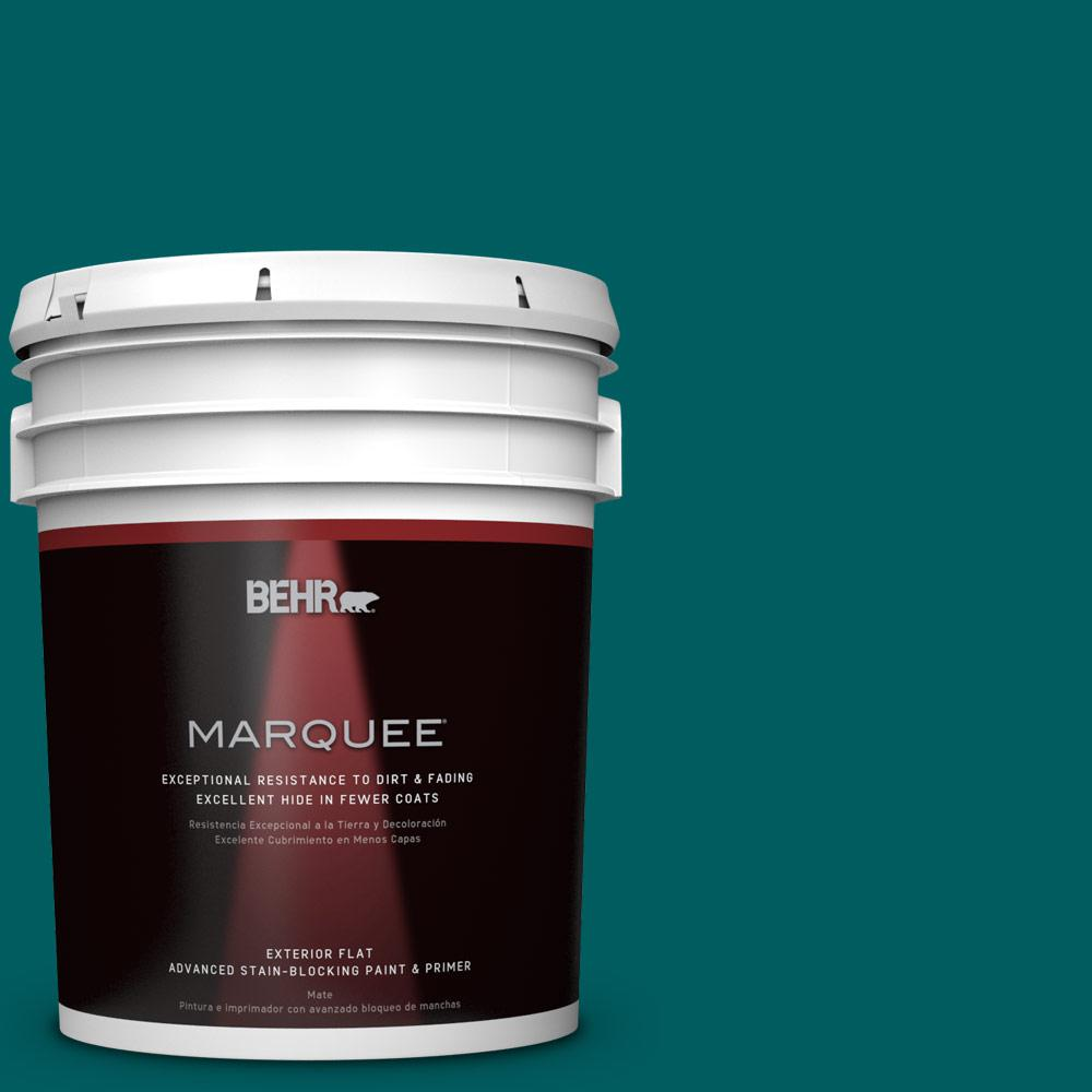 BEHR MARQUEE 5-gal. #S-H-500 Realm Flat Exterior Paint