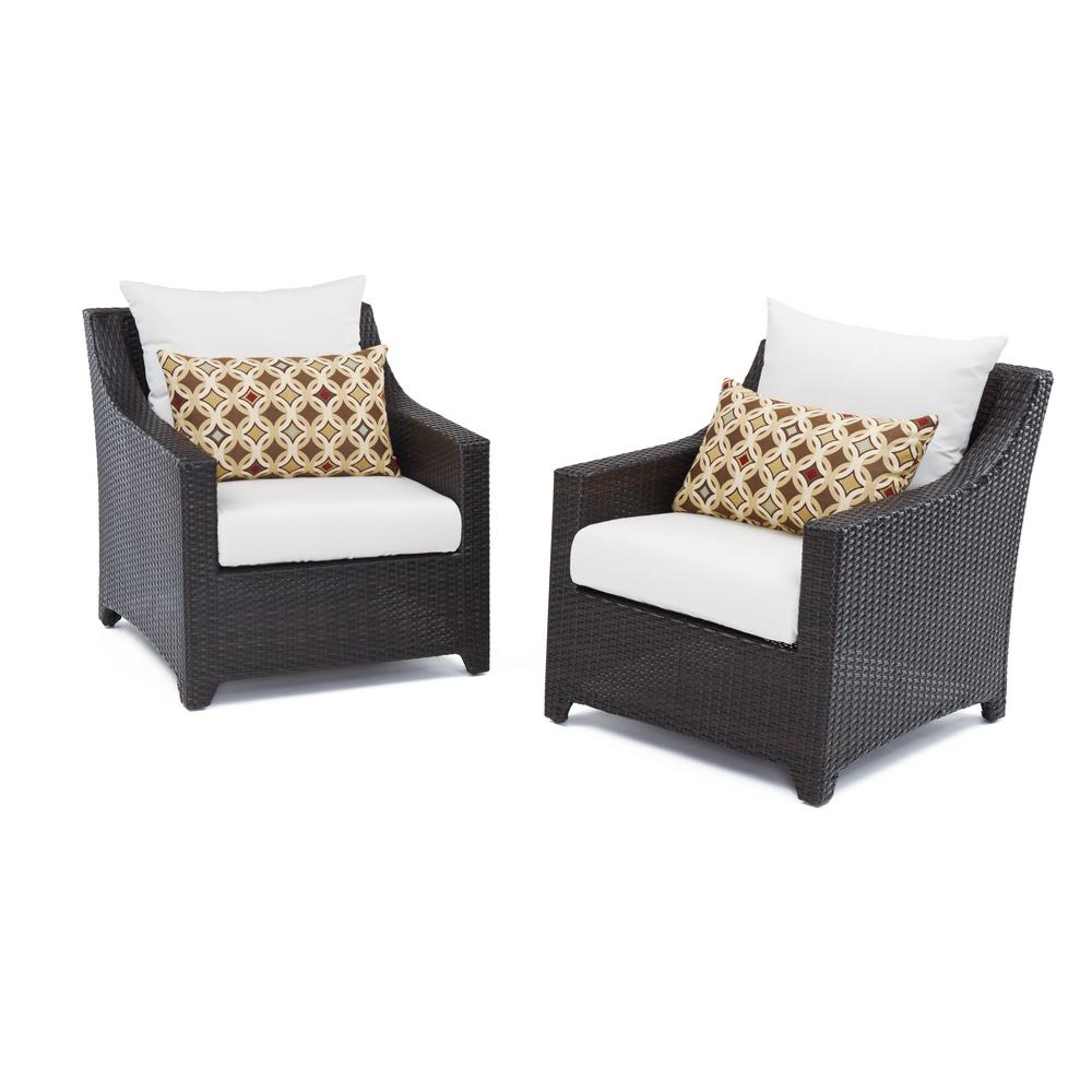 Exceptionnel RST Brands Deco Patio Club Chair With Moroccan Cream Cushions (2 Pack)