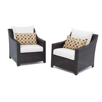 Deco Patio Club Chair with Moroccan Cream Cushions (2-Pack)