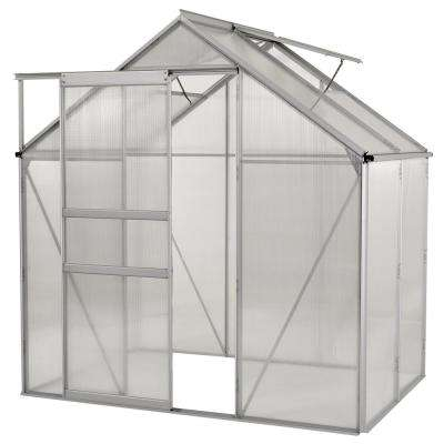 6 ft. x 4 ft. Ogrow Aluminium Greenhouse - Walk-In With Sliding Door And Double Roof Vent