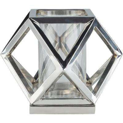 Eolda 10.75 in. Silver Stainless Steel Candle Holder