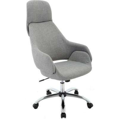 Bowen 17.25 in. to 22 in. Gas Lift Gray Wheeled Office Chair
