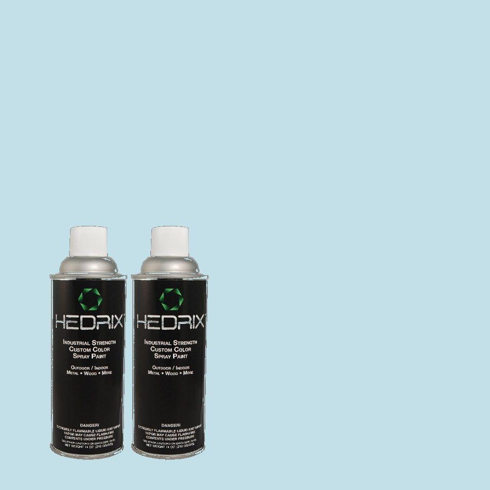 Hedrix 11 oz. Match of 1437 Jack Frost Flat Custom Spray Paint (2-Pack)