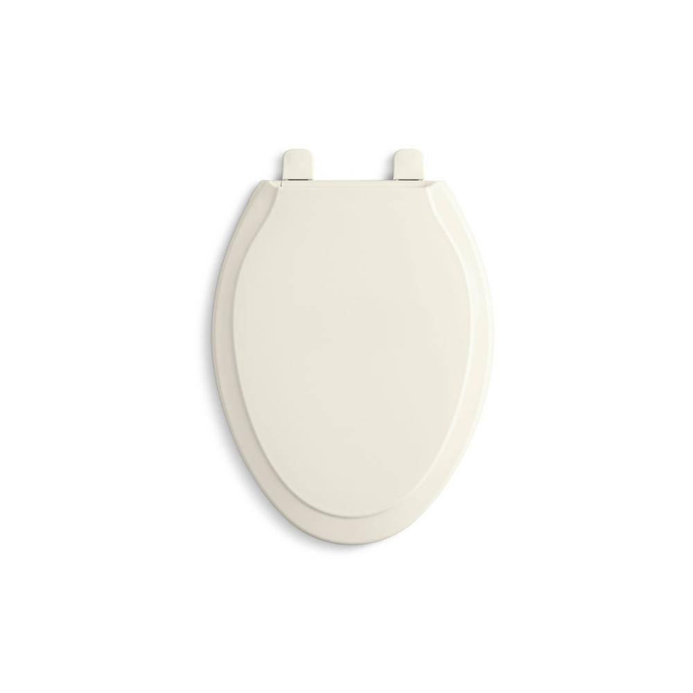 Swell Kohler Rutledge Quiet Close Elongated Toilet Seat With Q3 Advantage In Biscuit Pabps2019 Chair Design Images Pabps2019Com