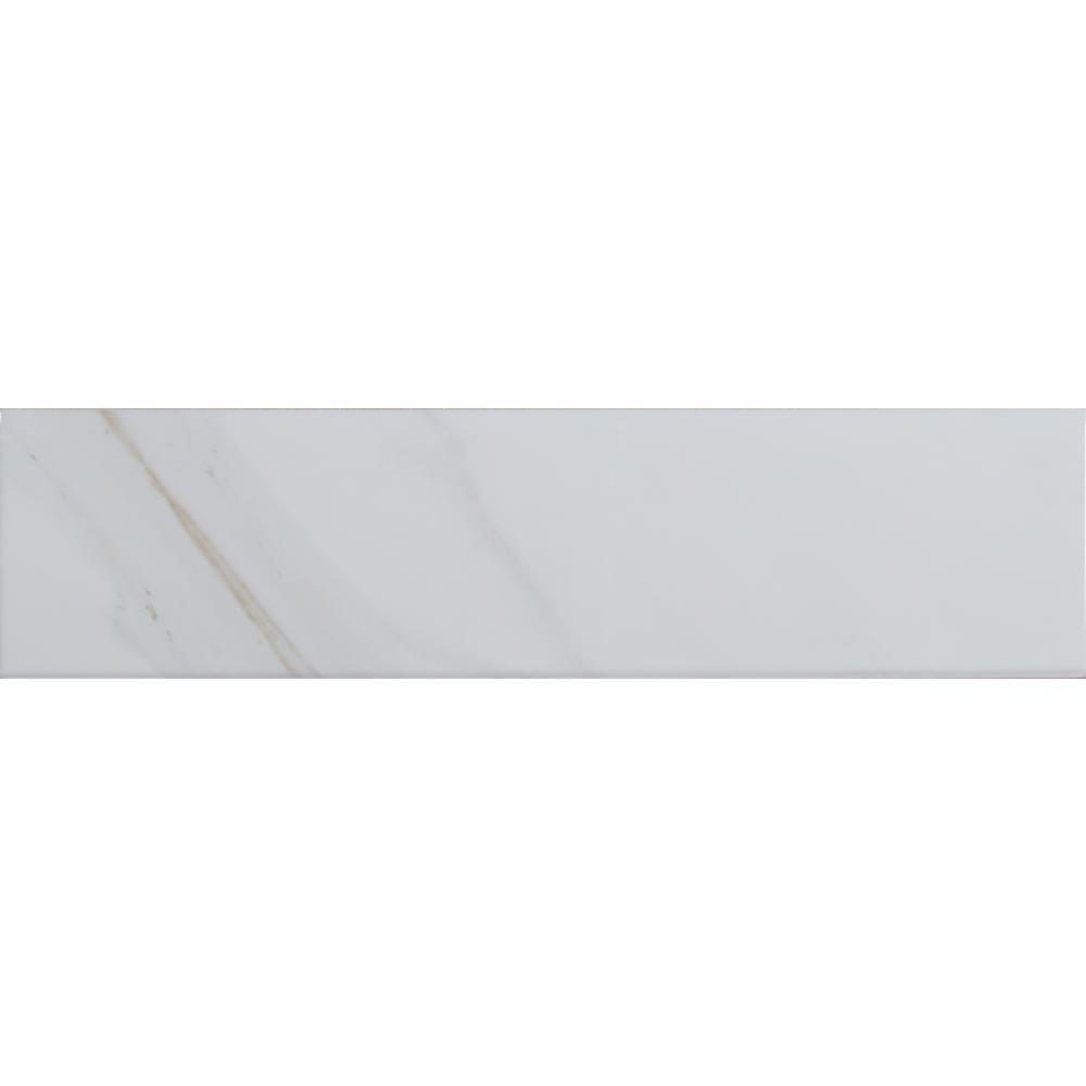 Jeffrey Court Allegro White Gloss 4 In X 16 In Ceramic