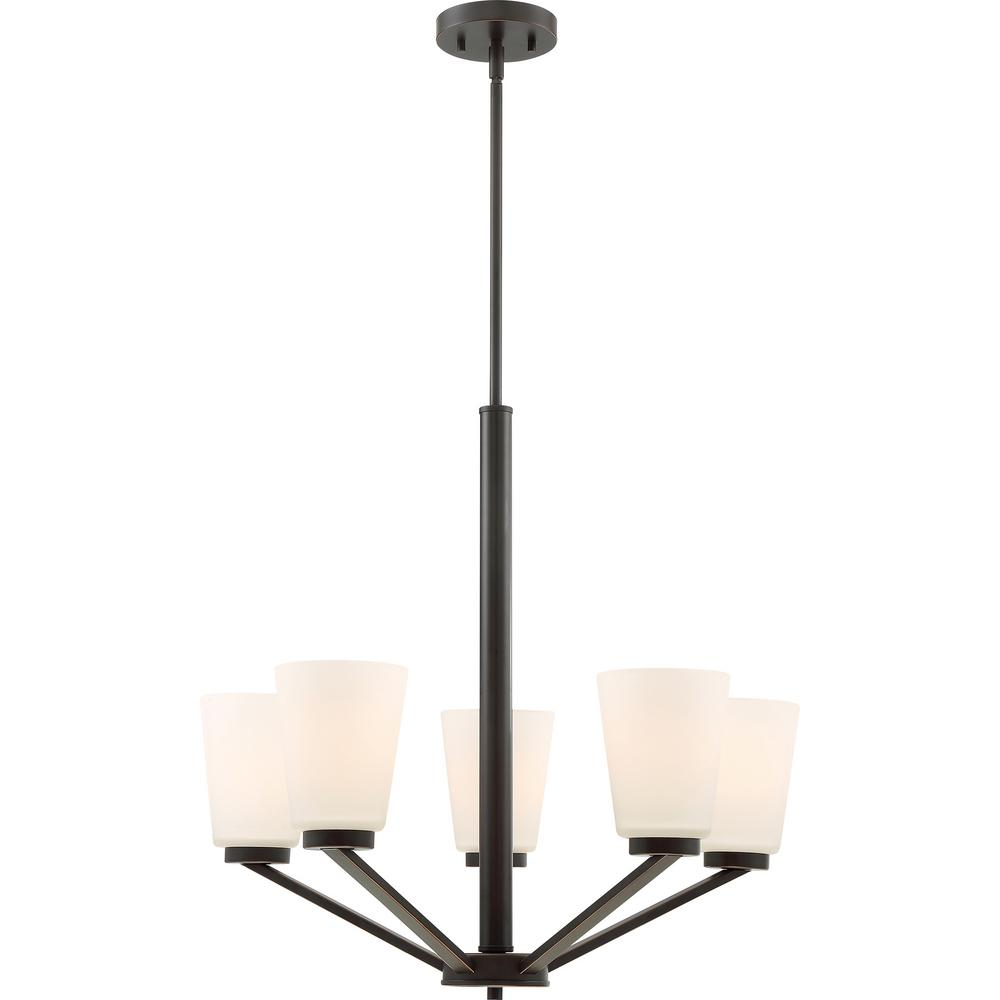 Filament Design Cyril 5 Light English Bronze Chandelier