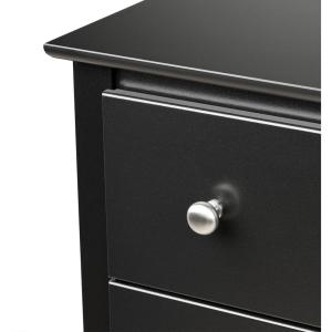 7f6b9ccea5a Prepac Sonoma 3-Drawer Black Nightstand-BDC-2403 - The Home Depot