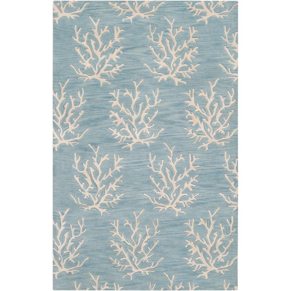 Surya Somerset Bay Powder Blue 3 ft. x 5 ft. Area Rug-ESP3013-3353 ...