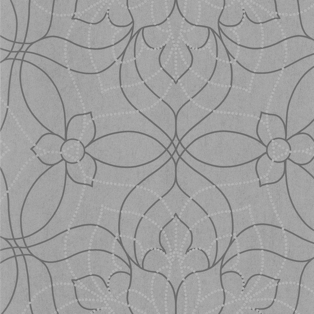 Charlotte Grey Modern Fl Wallpaper
