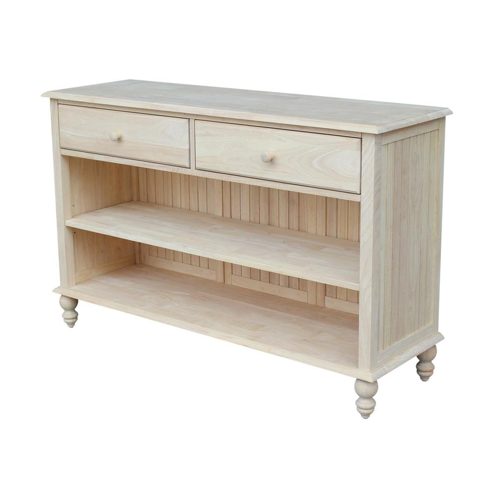 Exceptionnel International Concepts Cottage Unfinished Console Table