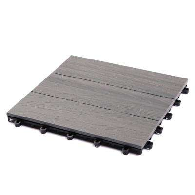 1 ft. x 1 ft. Elite Panama Gray Composite Deck Tiles (6-Pack)