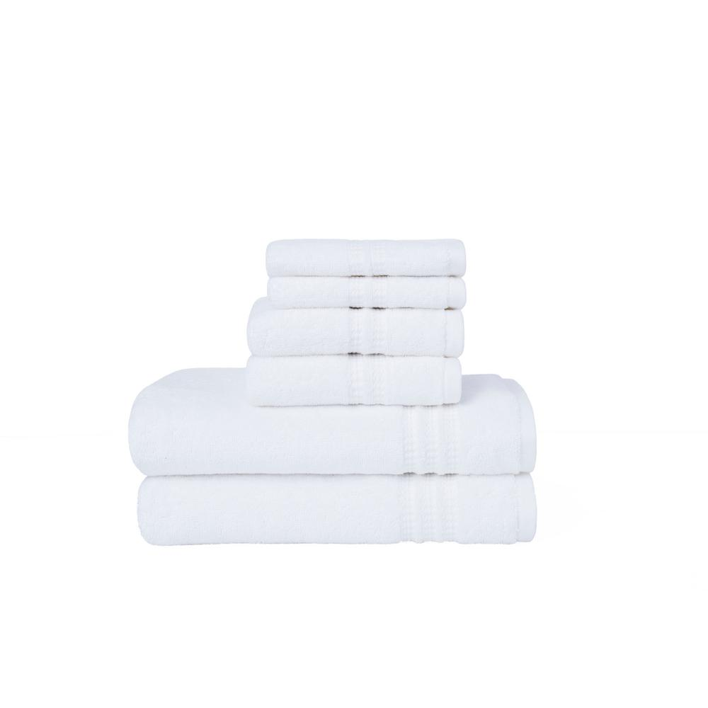 Modern Home Trends 6-Piece Towel Set in White