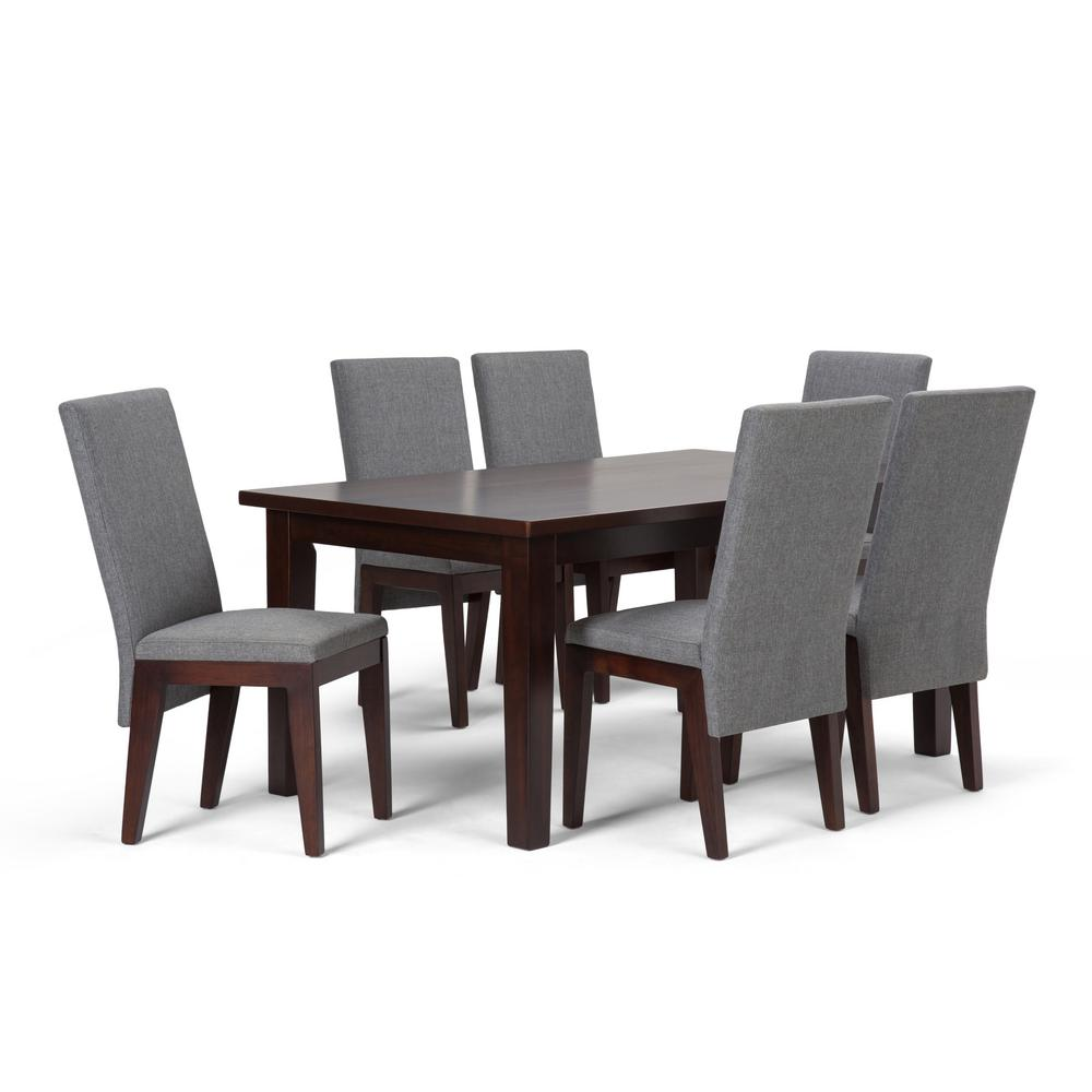 Simpli Home Jennings 7 Piece Dining Set With 6 Upholstered