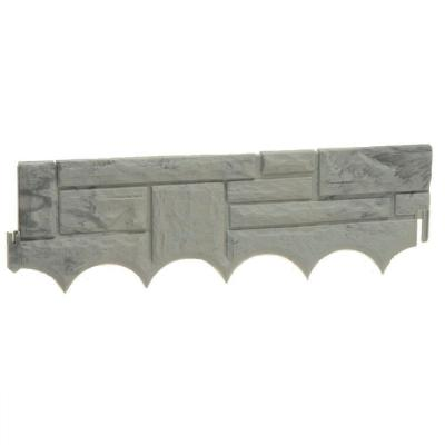 Field Stone 9 ft. 4 in. (22 in. Sections) Resin Border Edging