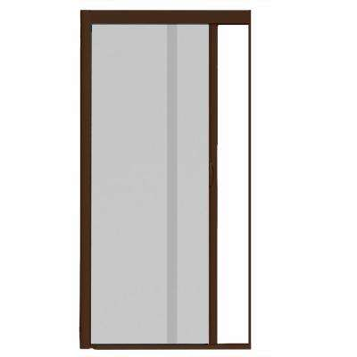 44 in. x 100 in. VS1 Brownstone Retractable Screen Door, Single Cassette