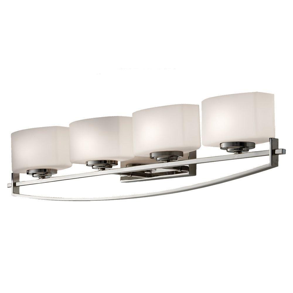 Bleeker Street 4-Light Polished Nickel Vanity Light
