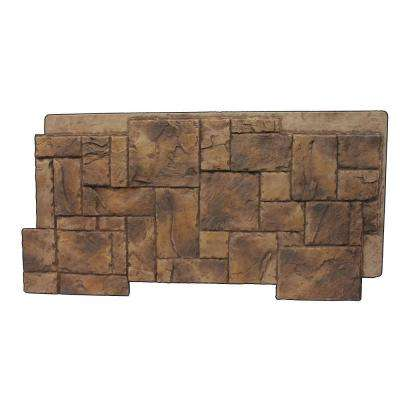 Faux Windsor Faux Stone 24-3/4 in. x 48-3/4 in. x 1-1/4 in. Panel Adobe Brown