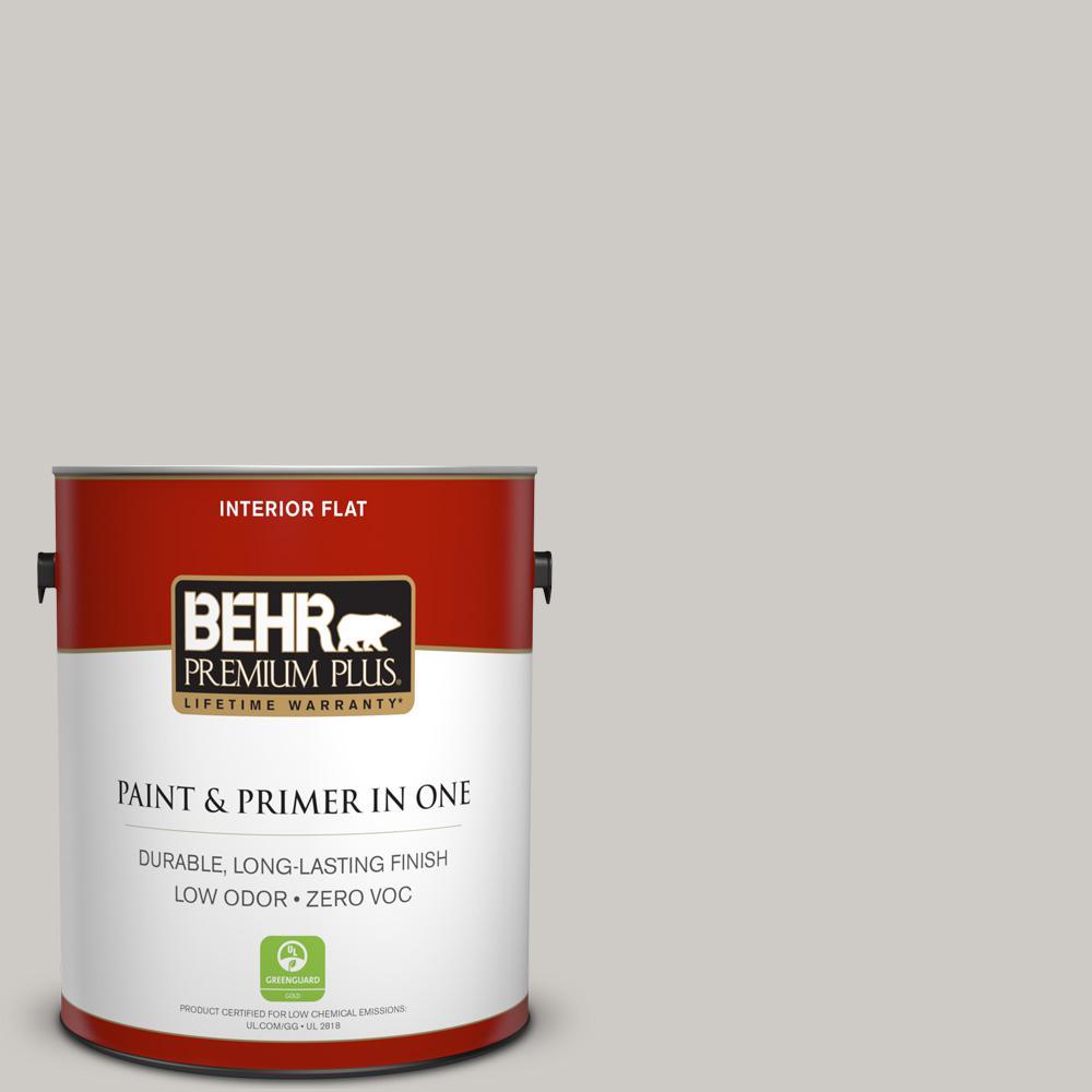 1 gal. #PPU26-10 Chic Gray Zero VOC Flat Interior Paint