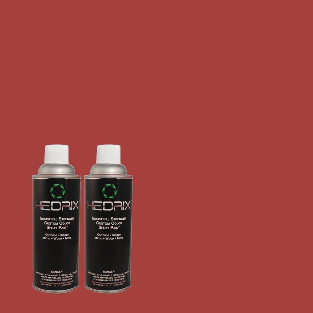 Hedrix 11 oz. Match of 140D-7 Classic Cherry Low Lustre Custom Spray Paint (2-Pack)