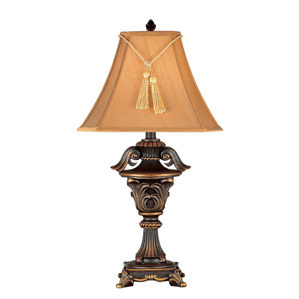 Kenroy Home Rowan 33 in. Metallic Bronze Table Lamp