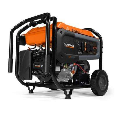 GP6500E- 6500-Watt Gasoline Powered Portable Generator 49/CSA with Transfer Switch Outlet for Home Backup