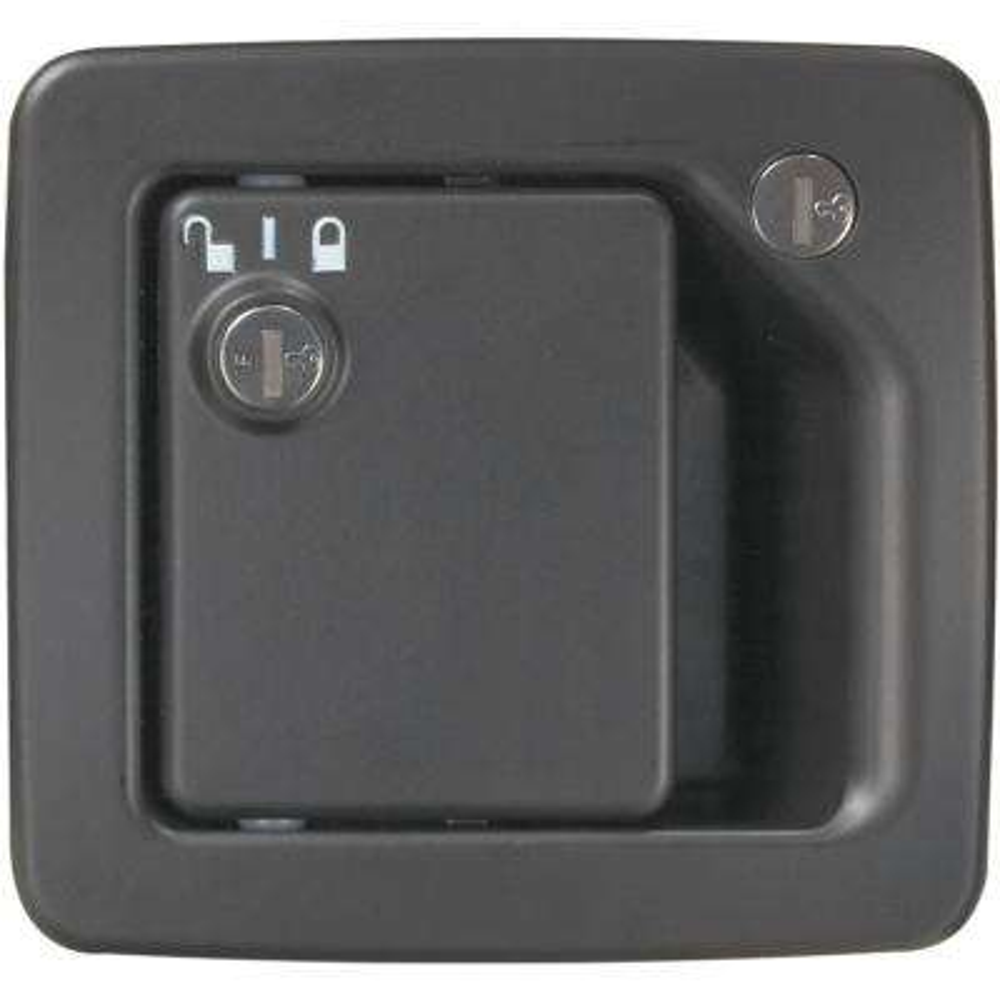 Motor Home Black RV Entrance Door Handle Hardware with Deadbolt