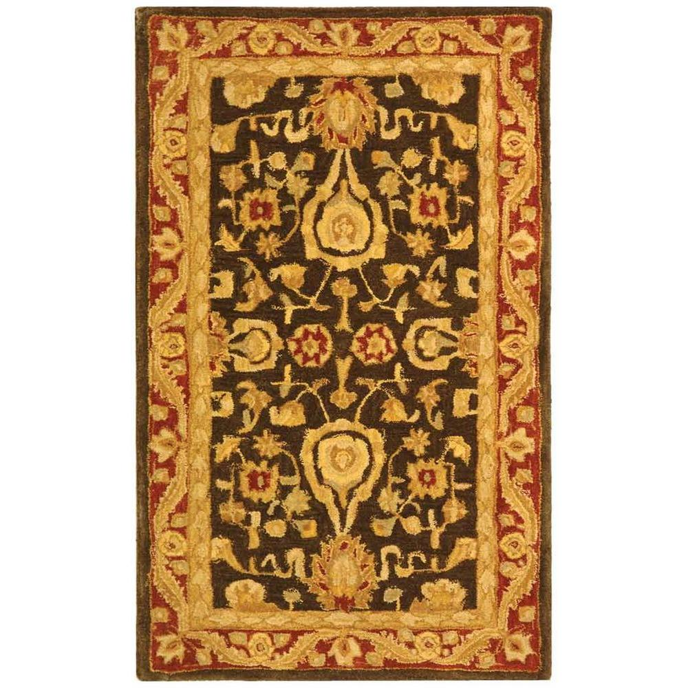 Anatolia Charcoal/Red 3 ft. x 5 ft. Area Rug