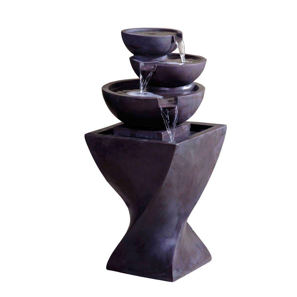 Modern Tier Bowls Indoor Water Fountain