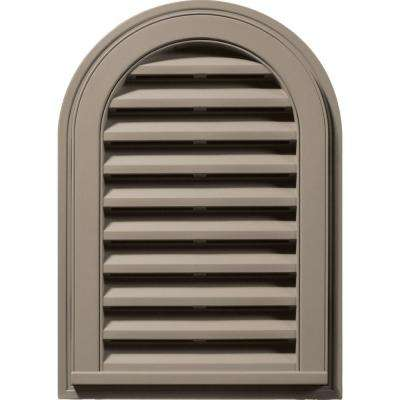 14 in. x 22 in. Round Top Gable Vent in Clay