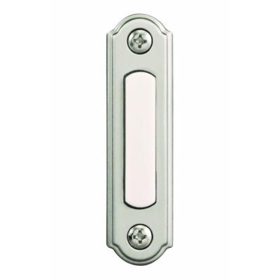 Wired LED Lighted Door Bell Push Button, Brushed Nickel