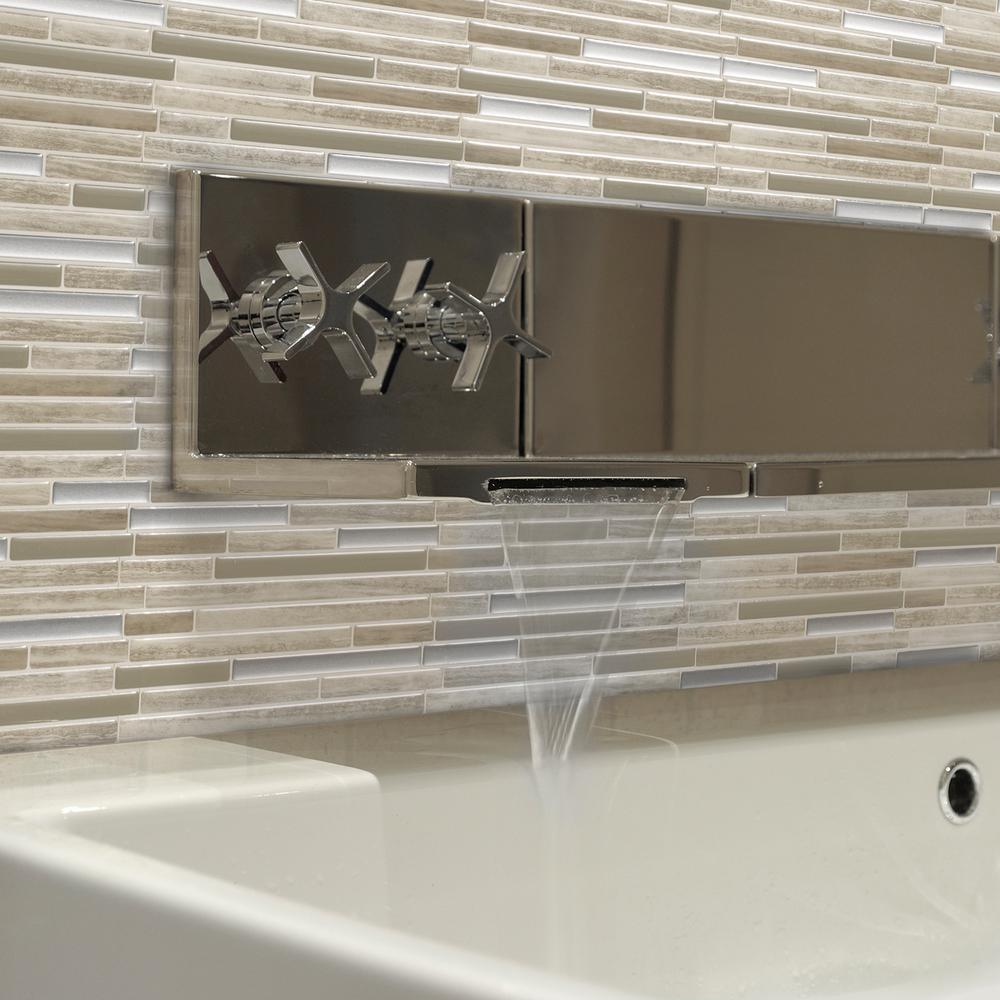 Smart Tiles Capri Taupe In W X In H Peel And