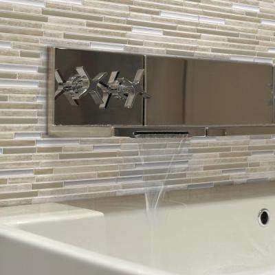 Capri Taupe 9.88 in. W x 9.70 in. H Peel and Stick Decorative Mosaic Wall Tile Backsplash (6-Pack)