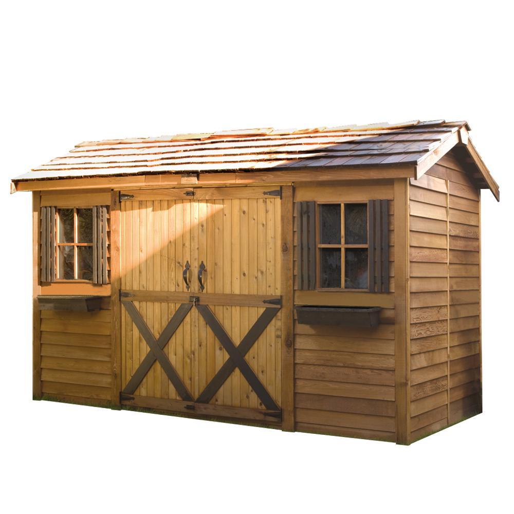 Cedarshed Longhouse 12 ft. x 6 ft. Western Red Cedar Garden Shed