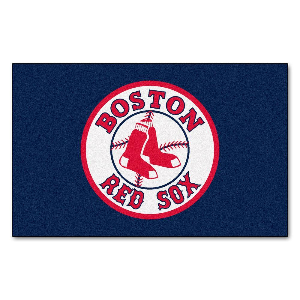 Fanmats Boston Red Sox 5 Ft X 8 Ft Ulti Mat 6337 The