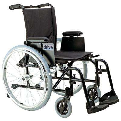 Cougar Ultra Lightweight Rehab Wheelchair with Detachable Adjustable Desk Arms and Swing-Away Footrest
